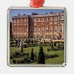England, Surrey, Hampton Court Palace. Square Metal Christmas Ornament