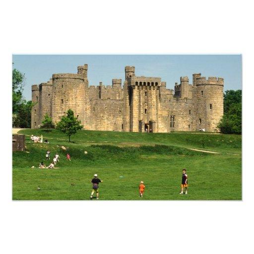 England, Sussex, Bodiam Castle. 2 Photo Print