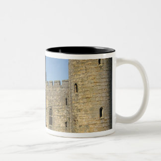 England, Sussex, Bodiam Castle. Two-Tone Coffee Mug
