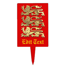 England   The Coat of Arms Cake Topper