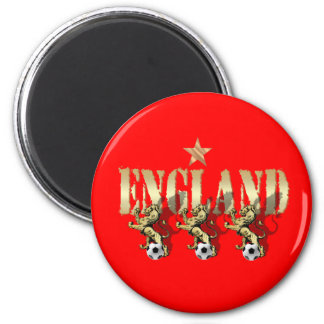 England Three Lions Football Gifts and Gear 2 Inch Round Magnet