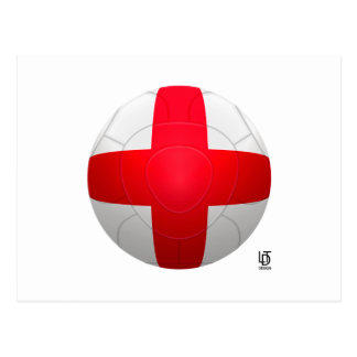 England - Three Lions Football Postcard