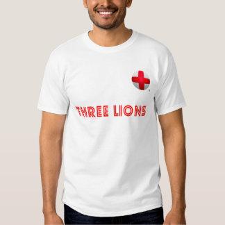 England - Three Lions Football T Shirt