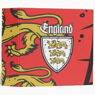 England Three Lions Wooden Shield Binder