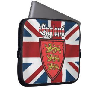 England Three Lions Wooden Shield Computer Sleeve
