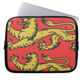 England Three Lions Wooden Shield Computer Sleeves