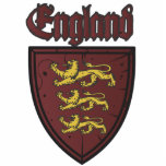 England Three Lions Wooden Shield Photo Cutout