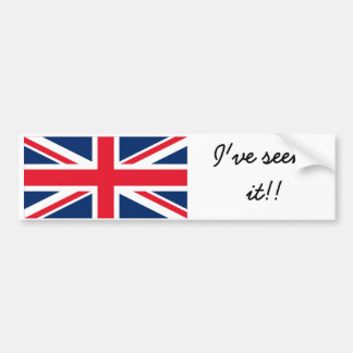 England to bumber to sticker car bumper sticker