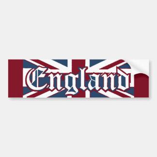 England-Union Jack Flag Bumper Sticker