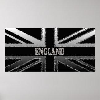 England Union Jack Modern Flag Poster