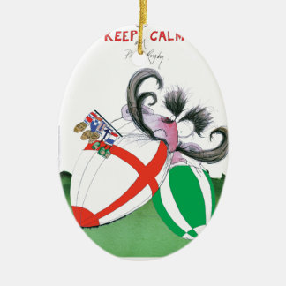 england v ireland rugby balls - from tony fernande ceramic ornament
