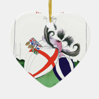 england v scoland rugby balls from tony fernandes ceramic ornament