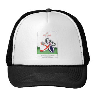 england v scoland rugby balls from tony fernandes trucker hat