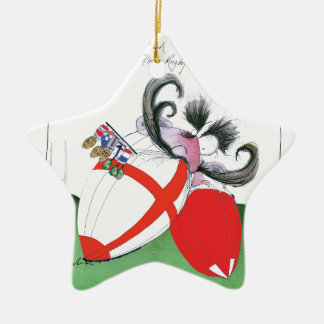 england v wales rugby balls from tony fernandes ceramic ornament
