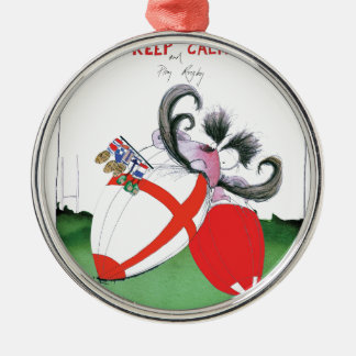 england v wales rugby balls from tony fernandes metal ornament