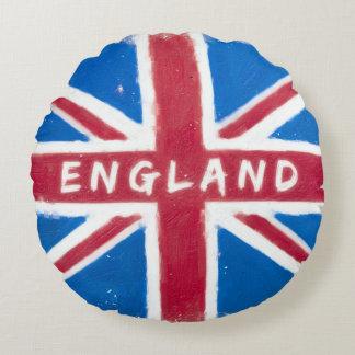 England - Vintage British Union Jack Flag Round Pillow