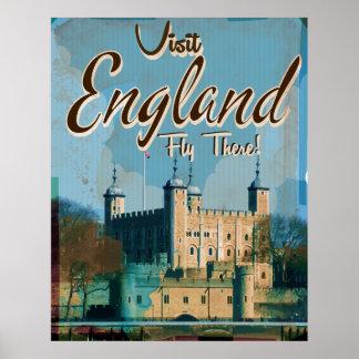 England Vintage travel poster