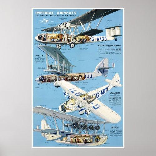 England Vintage Travel Poster Restored