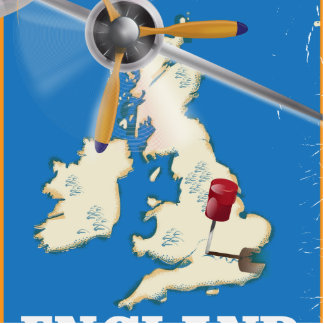 England vintage travel poster. statuette