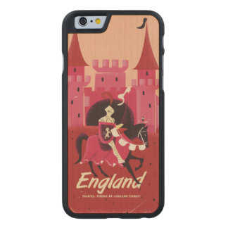England Vintage vacation print Carved® Maple iPhone 6 Case