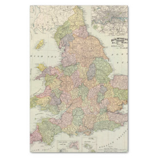 "England, Wales 2 10"" X 15"" Tissue Paper"