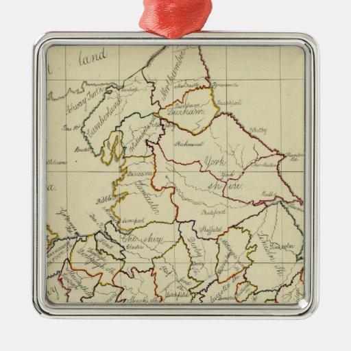 England, Wales 4 Christmas Ornaments