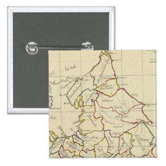 England, Wales 4 Pinback Button