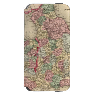 England, Wales Map by Mitchell iPhone 6/6s Wallet Case