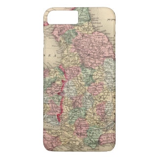 England, Wales Map by Mitchell iPhone 8 Plus/7 Plus Case