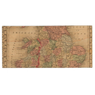England, Wales Map by Mitchell Wood USB 2.0 Flash Drive