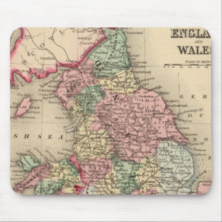 England, Wales Map by Mitchell Mouse Pad
