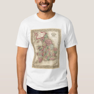 England, Wales Map by Mitchell Tee Shirt