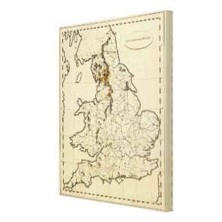 England, Wales outline Canvas Print