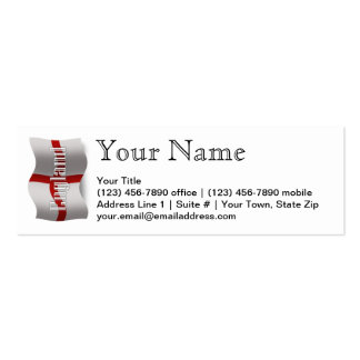 England Waving Flag Double-Sided Mini Business Cards (Pack Of 20)