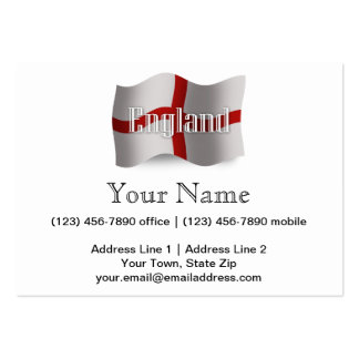 England Waving Flag Large Business Cards (Pack Of 100)