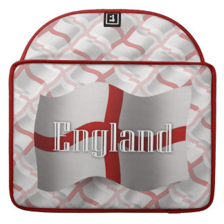 England Waving Flag Sleeve For MacBook Pro