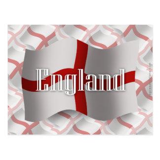 England Waving Flag Postcard