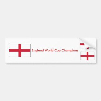 England World Cup Champions Bumper Sticker