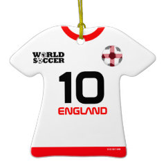 England World Cup Soccer Jersey Ornament ornament
