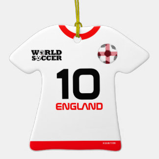 England World Cup Soccer Jersey Ornament
