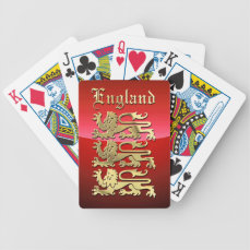 England's Coat of Arms Bicycle Playing Cards