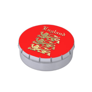 England's Coat of Arms Jelly Belly Candy Tin