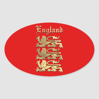 England's Coat of Arms Oval Sticker