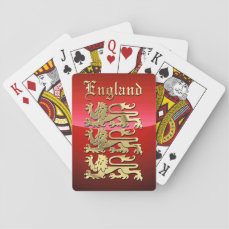 England's Coat of Arms Playing Cards