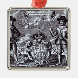 England's Famous Discoverers Metal Ornament