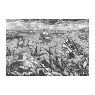 England's Great Storm Stretched Canvas Print