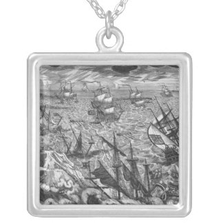 England's Great Storm Silver Plated Necklace