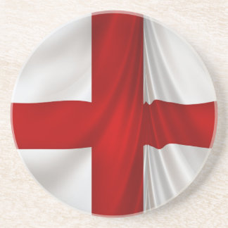England's St George Cross Patriotic Flag Sandstone Coaster