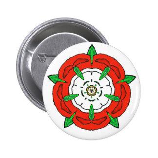 England's Tudor Rose 2 Inch Round Button