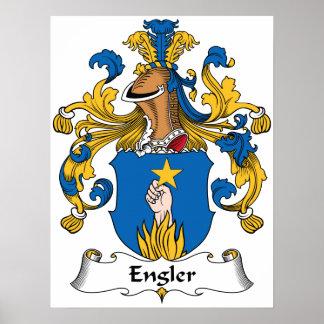 Engler Family Crest Poster